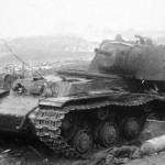 Destroyed heavy tank KV-1 (Kliment Voroshilov)