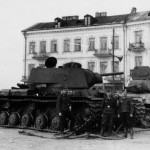 KV-1 and T-34 tanks in Bialystok Poland