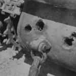 KV-1 tank rear with holes