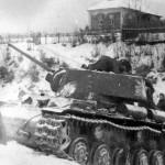 KV-1 tank in the Russian winter