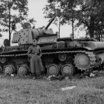 KV-1 with additional applique armour