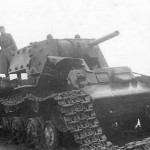KV-1 tank with additional bolted on applique armour