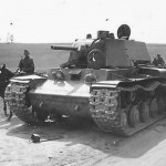 Abandoned KV-1 heavy tank 1941 Operation Barbarossa