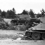 KV-1 and T-34 tanks