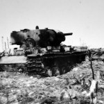 Burned out tank KV-1