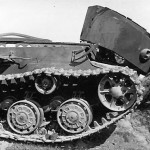 Destroyed by internal explosion heavy tank KV-1