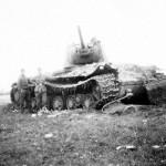 German troops inspect heavy tank KV-1 2