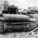 KV1 heavy tanks rear view