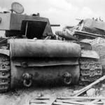 KV1 heavy tanks rear view