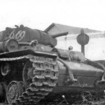 KV-1 tank with marking 6/69