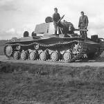 KV1 tank model 1939 – Pskov Pleskau Russia 1941