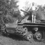 KV1 tank Schaulen in Lithuania 1941