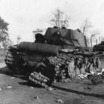 Soviet heavy tanks Kliment Voroshilov KV-1