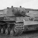Kliment Voroshilov KV1 tank model 1940 – front view