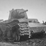 Knocked out KV-1 model 1942