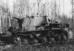 knocked out KV1 heavy tank