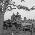 knocked out KV1 tank