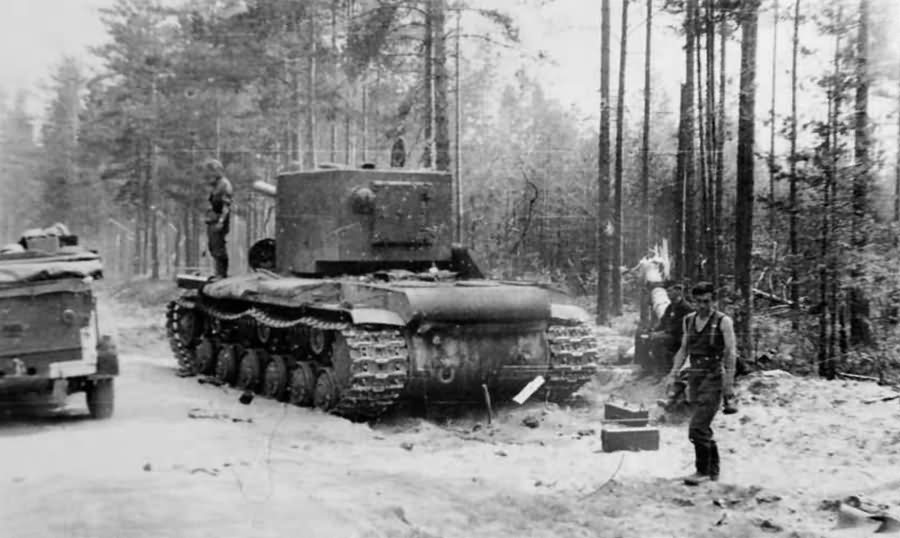 Tank KV2 abandoned in a forest eastern front 1941 8