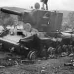 Destroyed Russian KV-2 Tank