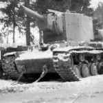 KV-2 Kliment Woroschilow KW-2 tank winter
