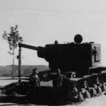 KV2 russian heavy tank captured by the Germans