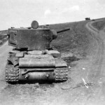 KV2 slipped off the road – rear view