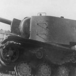 Tank KV2 with lowered turret