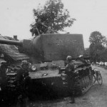 Tank KV2 captured by the Germans Eastern Front 1941