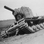 Immobilized KV-2 Kliment Voroshilov heavy tank – late model (1941)