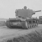 abandoned KV-2 Kliment Voroshilov tank