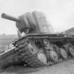 abandoned KV-2 tank