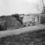destroyed soviet KV-2 tank