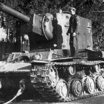 German KV-2 tank – balkenkreuz on the rurret side and hull