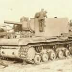 abandoned heavy tank KV-2 mod 1941