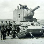 "Heavy tank KV-2 with ""low"" turret"