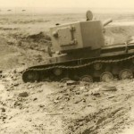 KV-2 tank stuck in a mud