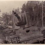 KV2 tank stuck in a ditch, front view photo 3