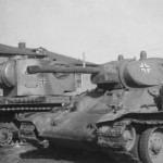 German KV-2 (КВ-2) and T-34/76 tanks