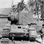 KV2 destroyed 1941