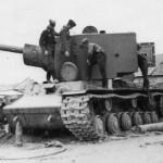 Tank KV-2 model 1941 destroyed 11