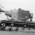 Soviet heavy breakthrough tank KV-2 1941