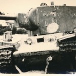 KV2 (КВ-2) heavy tank abandoned due to mechanical malfunction and captured by the Germans