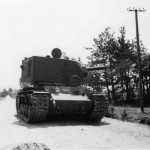Abandoned intact tank KV-2