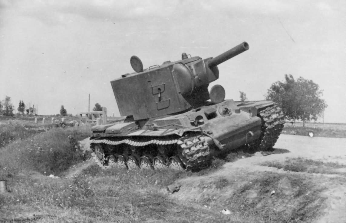 abandoned KV-2 heavy assault tank with the M 10 152 mm howitzer 2