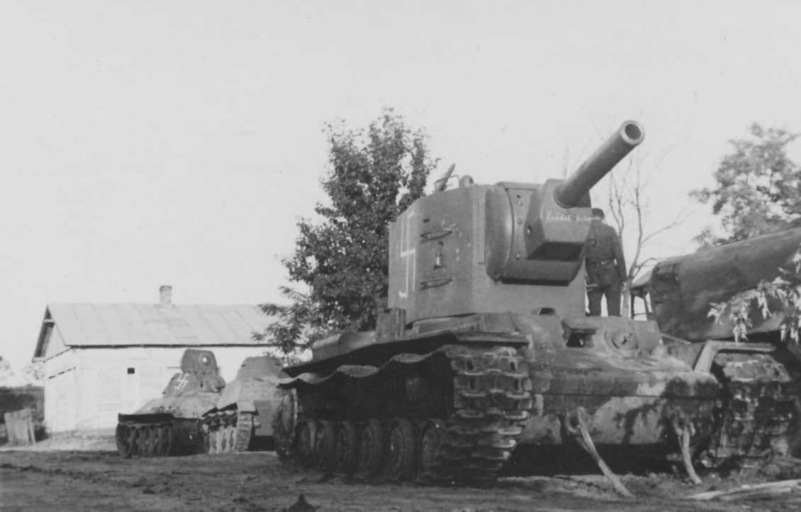 captured KV2 heavy tank