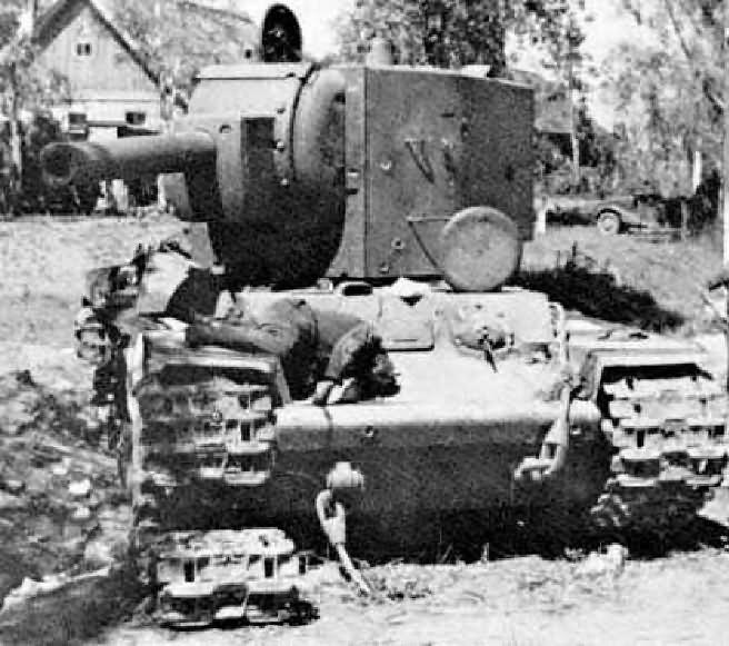 KV2 destroyed tank