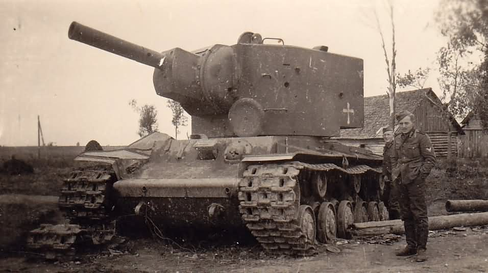 KV2 heavy tank captured by the Germans