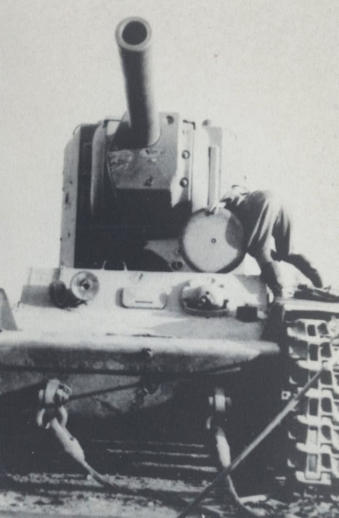 KV-2 heavy tank abandoned due to mechanical malfunction and captured by the Germans