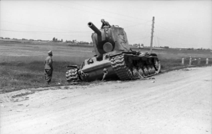 KV-2 (KW-2) tank abandoned by the Red Army