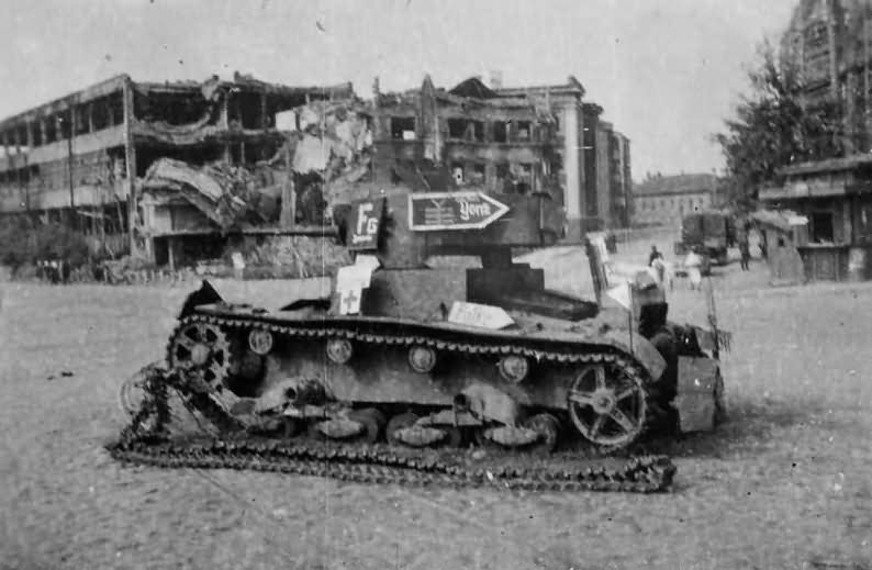 T 26 tank used as road sign 2